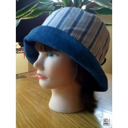 Bucket hat reversibile denim 02