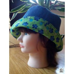 Bucket hat reversibile denim 01