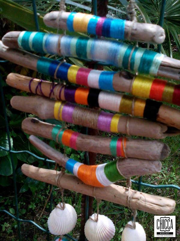 Scacciapensieri con legni di mare for Legni di mare arredamento